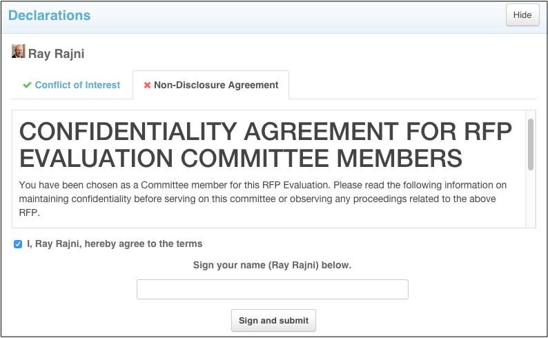 After Digitally Signing The NDA Form You Will See A Confirmation Screen  (note The Green Checkmark Now Next To NDA Heading). The Official Date And  Timestamp ...