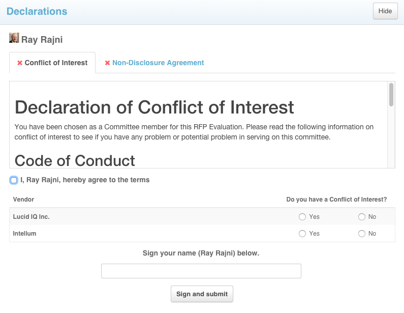 conflict of interest declaration template declaration module conflict of interest coi and non